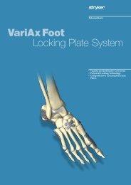 VariAx Foot Brochure - Stryker