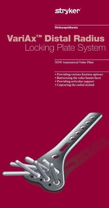 VariAx™ Distal Radius Locking Plate System - Stryker