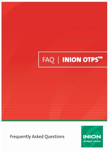 Frequently Asked Questions-Inion OTPS - Stryker