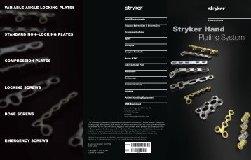 Stryker Hand Plating System Flyer