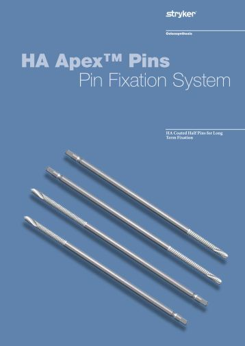 HA Apex Pins Brochure - Stryker
