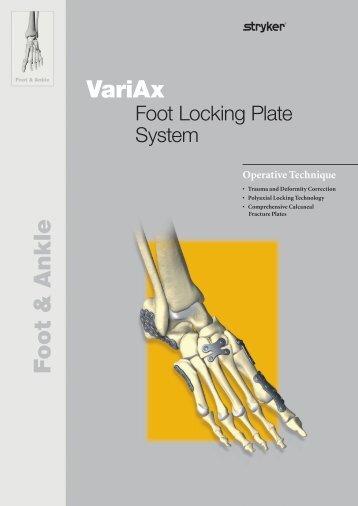VariAx Foot Operative Technique - Stryker