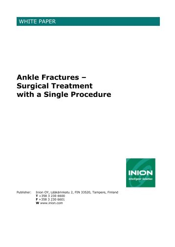 osteosynthesis procedure Conclusions: the advantages of this technique are the avoidance of an open procedure requiring extensive soft-tissue dissection with the risks of tendon adhesions and the achievement of interfragmentary compression comparing this method with a conventional plate/screw osteosynthesis.