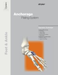 Anchorage Foot Plates Operative Technique - Stryker