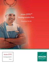 Inion OTPS Biodegradable Pins-Procedure Pin Kit - Stryker