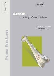 AxSOS Distal Lateral Femur Threaded Shaft Holes ... - Stryker