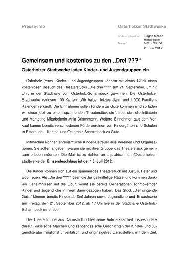 Familienkalender tut Gutes - Osterholzer Stadtwerke