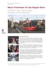 Flyer: Neue Tramlinien für die Region Bern - Gemeinde ...