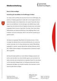 Mediengespräch vom - Gemeinde Ostermundigen