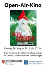 Freitag, 26. August 2011, ab 20 Uhr