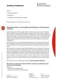 Amtliche Publikation - Gemeinde Ostermundigen