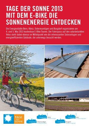 tage der sonne 2013 mit dem e-bike die sonnenenergie entdecken