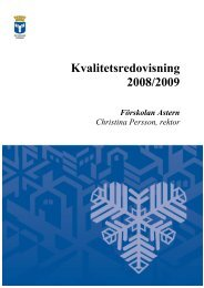 Kvalitetsredovisning 2008/2009 - Östersunds kommun