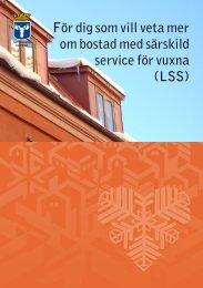 För dig som vill veta mer om bostad med särskild service för vuxna ...