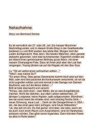 NAHAUFNAHME  von Bernhard Dörries