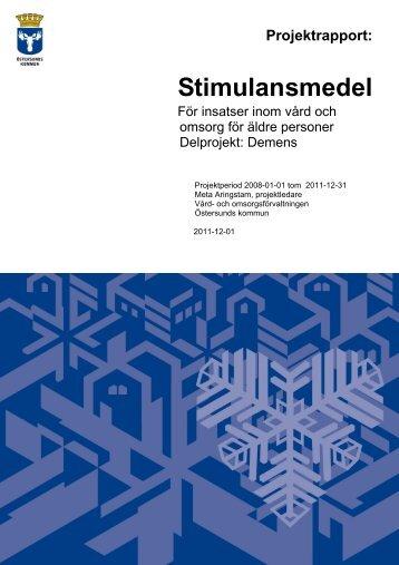 Microsoft Word - 2011-12-01_demensvård.doc - Östersunds kommun