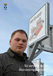 Så sorterar du på Återvinningscentralen - Östersunds kommun