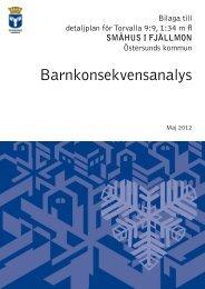 Barnkonsekvensanalys Maj 2012 - Östersunds kommun