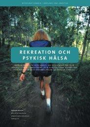 Rekreation och psykisk hälsa - Vgregion.se
