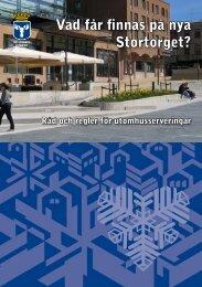 Vad får finnas på nya Stortorget? - Östersunds kommun