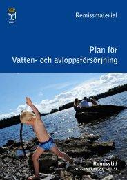 Plan för Vatten- och avloppsförsörjning - Östersunds kommun