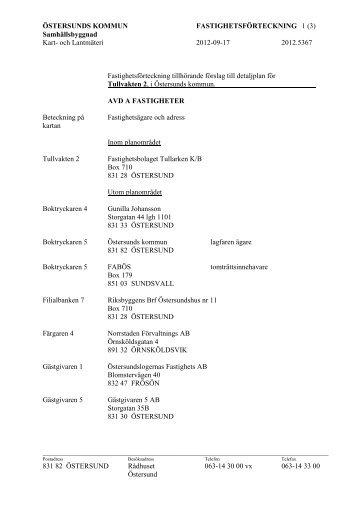 och Lantmäteri 2012-09-17 2012.5367 831 82 ÖSTERSUND R