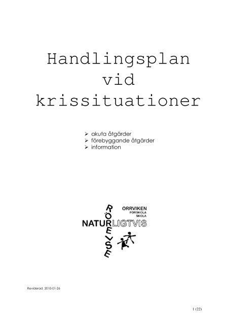 Krisplan - Östersunds kommun