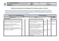 Risk/konsekvensanalys och handlingsplan för minskning av platser i ...