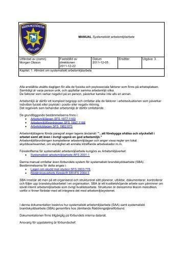 Om systematiskt arbetsmiljöarbete - Östersunds kommun