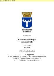 Kommunfullmäktiges sammanträde - Östersunds kommun