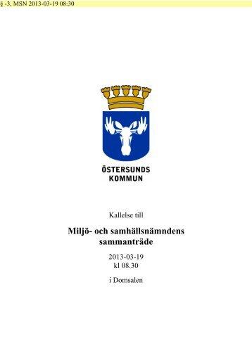 Kallelse miljö- och samhällsnämnden mars 2013 - Östersunds ...