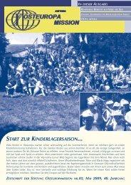 Zeitung_Mai 09 - Osteuropamission Schweiz