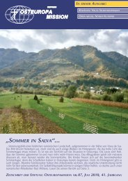 """SOMMER IN SALVA""... - Osteuropamission Schweiz"