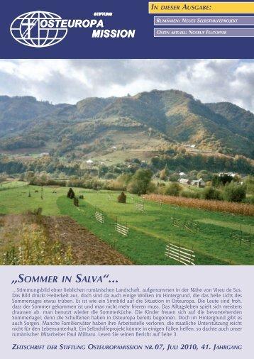 """SOMMER IN SALVA""... - Osteuropamission Schweiz"
