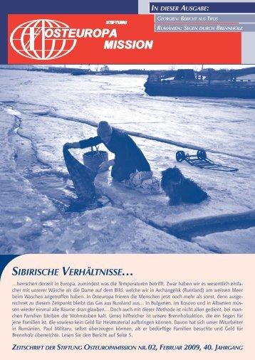 SIBIRISCHE VERHÄLTNISSE… - Osteuropamission Schweiz