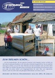 ZuM TRÄuMEN SCHÖN… - Osteuropamission Schweiz