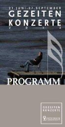 Programm Gezeitenkonzerte - Ostfriesische Landschaft