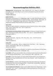 Neuerwerbungsliste Ostfrisica 2013 - Ostfriesische Landschaft