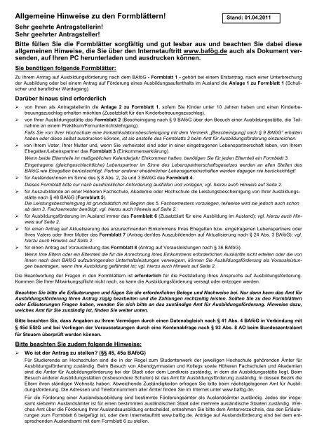 Bafog Inform Vorwort Hallochen Erstsemesterinnen