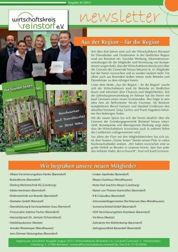 2013 - Wirtschaftskreis Reinstorf e.V. Newsletter