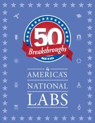 50 Breakthroughs by America's National Labs - Office of Science