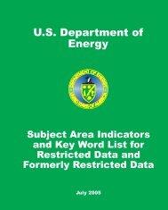 U.S. Department of Energy - OSTI