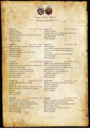 Lunch I cena 25 PLN / osob Sałatka grecka Spaghetti arabiatta ...