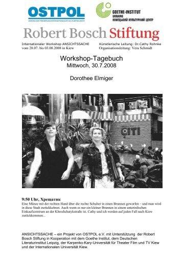 Workshop-Tagebuch - OSTPOL