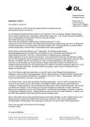 Newsletter 10/2011 Liebe Freundinnen und Freunde des ...