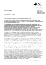 Newsletter 05/2010 Versanddatum: 01.12.2010 Liebe Freundinnen ...