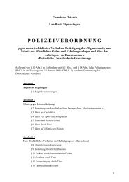 Polizeiverordnung - Ostrach