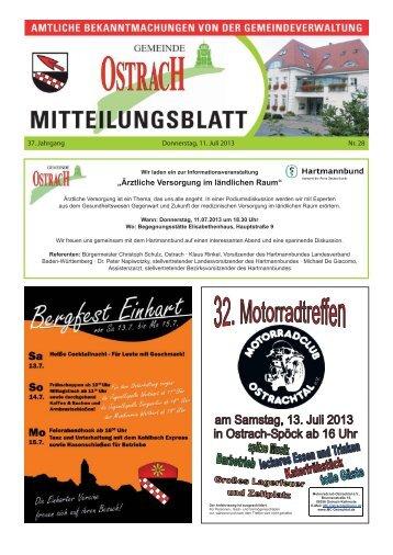 Mitteilungsblatt Woche 28 - Ostrach
