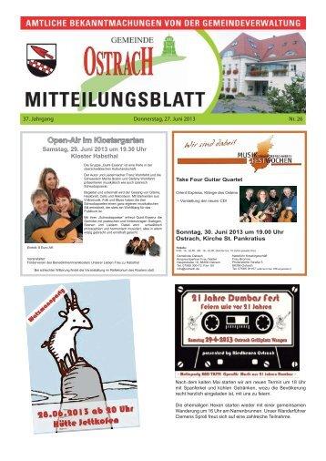 Mitteilungsblatt Woche 26 - Ostrach