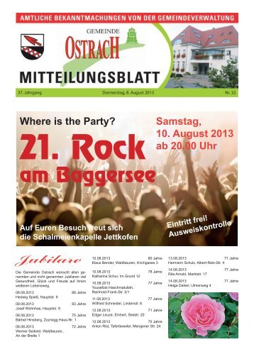 Mitteilungsblatt Woche 32 - Ostrach